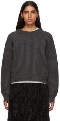Acne Studios Grey Wool Rib Sweater