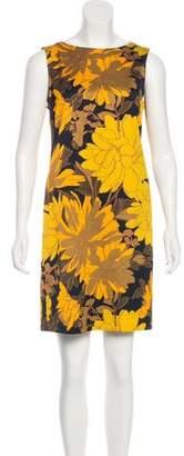 Dries Van Noten 2018 Floral Print Mini Dress