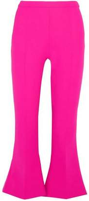 Antonio Berardi Neon Stretch-Wool Kick-Flare Pants