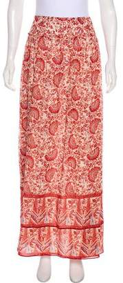 Tory Burch Printed Silk Maxi Skirt