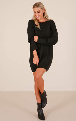 Showpo Fireside tunic top in black