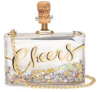 Cecilia Ma 'Cheers' glitter acrylic box clutch