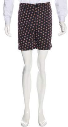 Gucci 2016 Printed Flat Front Shorts