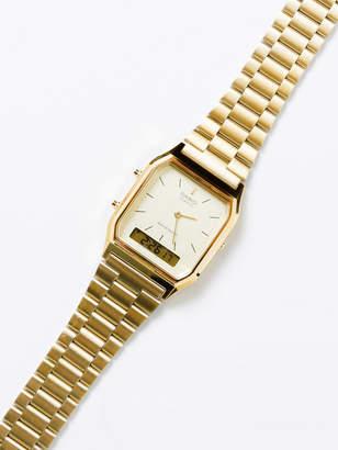 Casio Womens AQ230GA-9DS Analogue Digital Watch in Gold