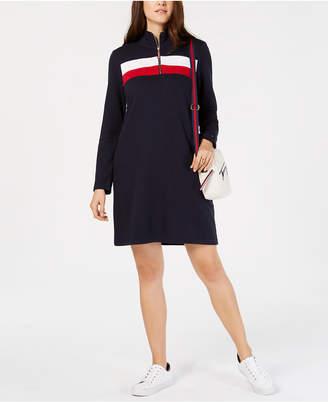 Tommy Hilfiger Colorblock Half-Zip Dress