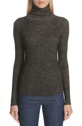 Ulla Johnson Mars Metallic Cashmere Blend Turtleneck Sweater