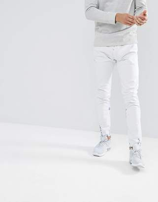 Diesel Tepphar Skinny Jeans in Off White