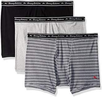 Tommy Bahama Men's Breathe Easy 3 Pack Boxer Brief-Multi Grey Stripe