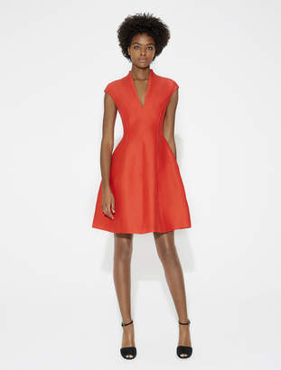 Halston Silk Faille Structured Dress
