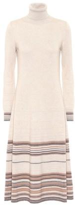 Agnona Striped cashmere dress