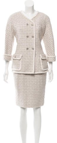 Chanel Chanel Tweed Double-Breasted Skirt Suit w/ Tags