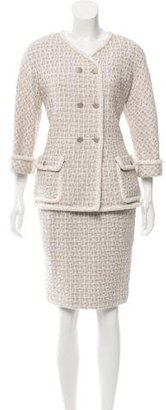 Chanel Tweed Double-Breasted Skirt Suit w/ Tags $2,250 thestylecure.com