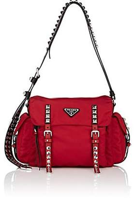 c154e6cdc7e7 Prada Women s Leather-Trimmed Messenger Bag - Red