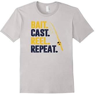 Funny Bait Cast Reel Repeat Fishing Gift T-shirt