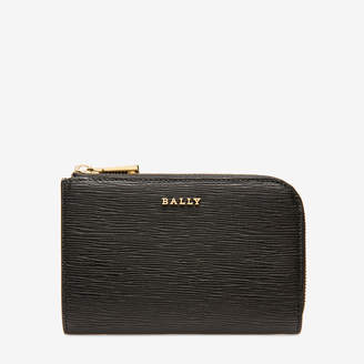Bally Lauriel Black, Women's calf leather card holder in black