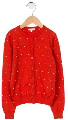 Gucci Girls' Wool Knit Cardigan orange Girls' Wool Knit Cardigan