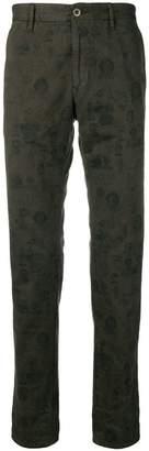 Incotex printed straight leg trousers