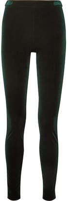 Haider Ackermann Stretch-velvet Slim-leg Pants - Emerald