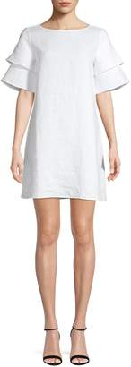 Lord & Taylor Petite Flutter-Sleeve Shift Dress