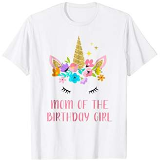 169c7ba3b13 Matching Unicorn Mom of the Birthday Girl T-Shirt