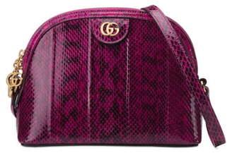 Gucci Small Ophidia Genuine Snakeskin Shoulder Bag
