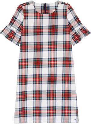 Vineyard Vines Plaid Bell Sleeve Party Dress