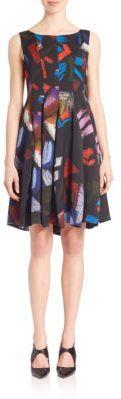 Armani Collezioni Printed Fit & Flare Dress $1,295 thestylecure.com
