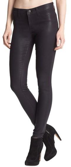 J Brand Coated Super Skinny Jeans (Coated Opalite)