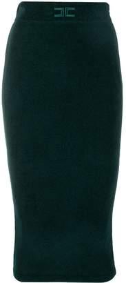 Elisabetta Franchi knitted tube pencil skirt