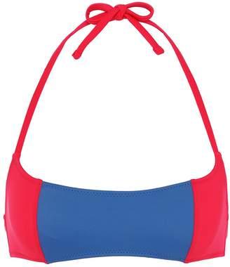 Solid & Striped 'The Jessica' colourblock halterneck bikini top
