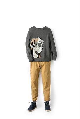 Country Road Tiger Knit Crew