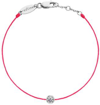 Redline Pure String Diamond Hot Red Bracelet - White Gold