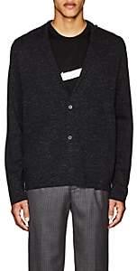 Lanvin Men's Mélange Wool-Blend Cardigan - Charcoal