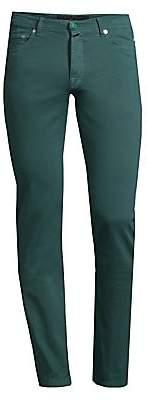 Kiton Men's Stretch-Cotton Straight-Leg Jeans
