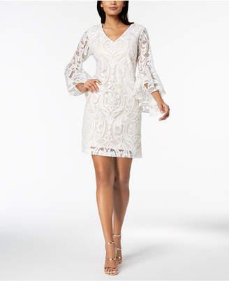 MSK Lace Bell-Sleeve Dress