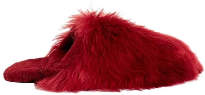 Tibi Fur Slippers