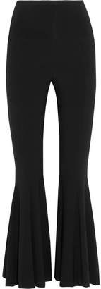 Norma Kamali Stretch-jersey Flared Pants - Black