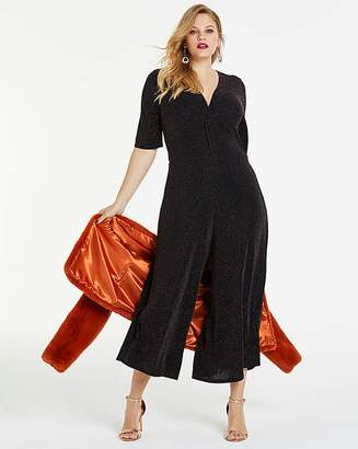 Fashion World Simply Be By Night Twist Front Jumpsuit