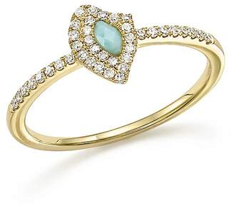 Meira T 14K Yellow Gold Larimar Ring with Diamonds