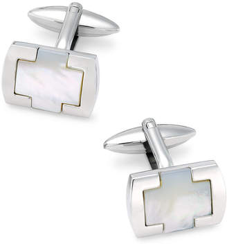 Mother of Pearl Sutton by Rhona Sutton Men Stainless Steel & Mother-of-Pearl Cufflinks
