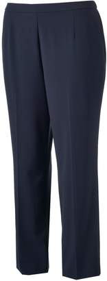 Dana Buchman Plus Size Flat-Front Stretch Pants