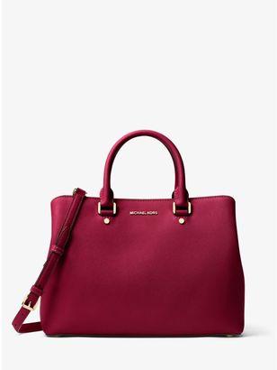 Savannah Large Saffiano Leather Satchel $368 thestylecure.com