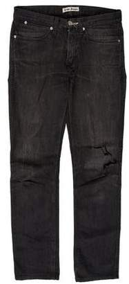 Acne Studios Mid-Rise Distressed Jeans