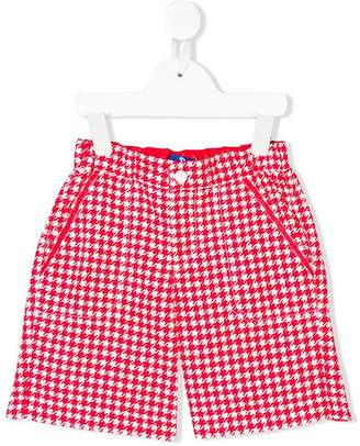 Stefano Ricci Kids Houndstooth swim shorts