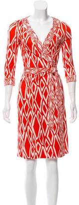 Diane von Furstenberg Banded Julian Silk Knee-Length Dress