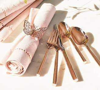 Pottery Barn Monique Lhuillier Marlowe Rose Gold Flatware