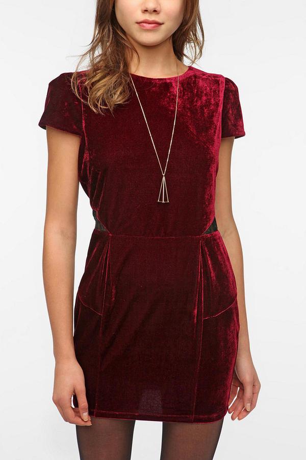 Sparkle & Fade Velvet Puff Sleeve Dress