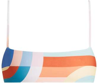 Mara Hoffman Meridan-print cropped cami bikini top