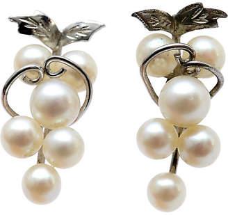 One Kings Lane Vintage Pair of Pearl Grape Cluster Earrings - N.P.Trent Antiques
