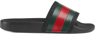Gucci Kids Children's rubber slides with Web